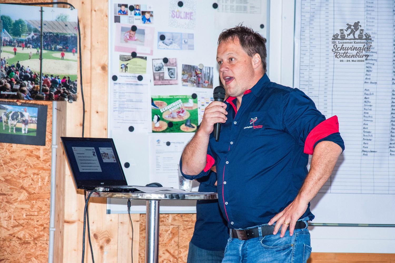 101. Luzerner Kantonale Schwingfest 2020 in Rothenburg, Kick-Off
