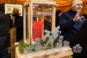 Stand am Weihnachtsmarkt in Rothenburg