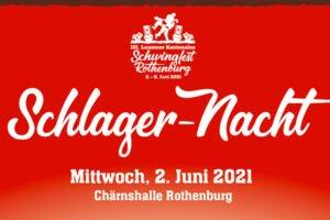 Verschiebung Schlager-Nacht auf 2. Juni 2021    –Tickets behalten ihre Gültigkeit